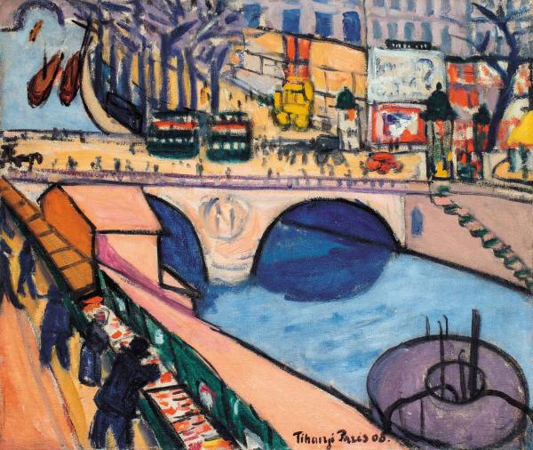 Tihanyi_Lajos__Pont_St_Michel_1908