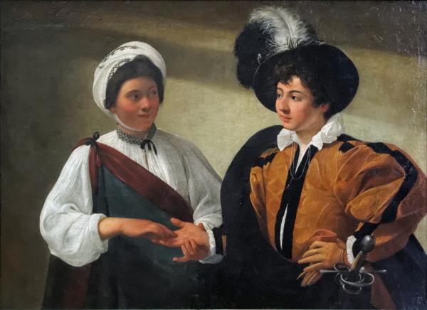 La_Diseuse_de_bonne_aventure_Caravaggio_Louvre_INV_55_02